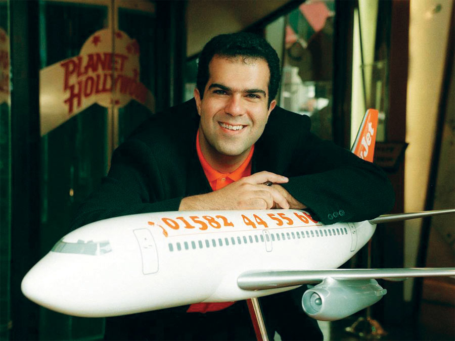 Stelios at the easyJet Launch in Planet Hollywood
